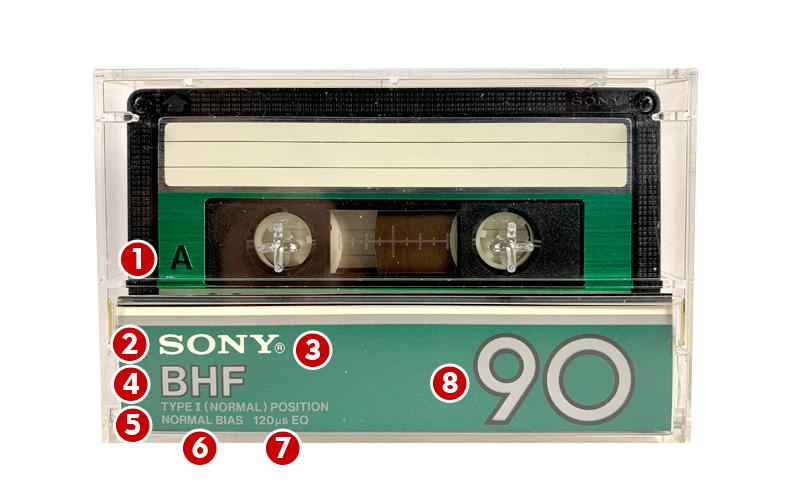 Аудиокассета Sony BHF 90 минут
