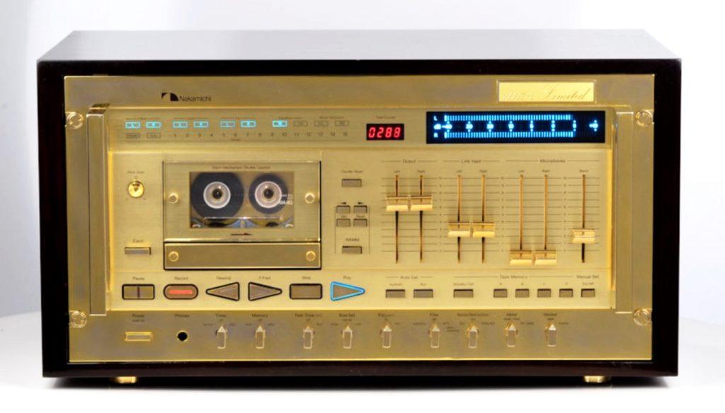 Золотая кассетная дека Nakamichi 1000zxl